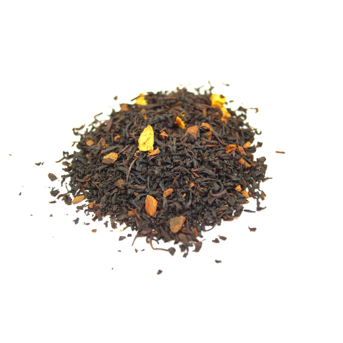 Cinnamon Orange Spice Black Tea with a double blended black tea with orange pieces and extra cinnamon. This is the best Cinnamon Tea.