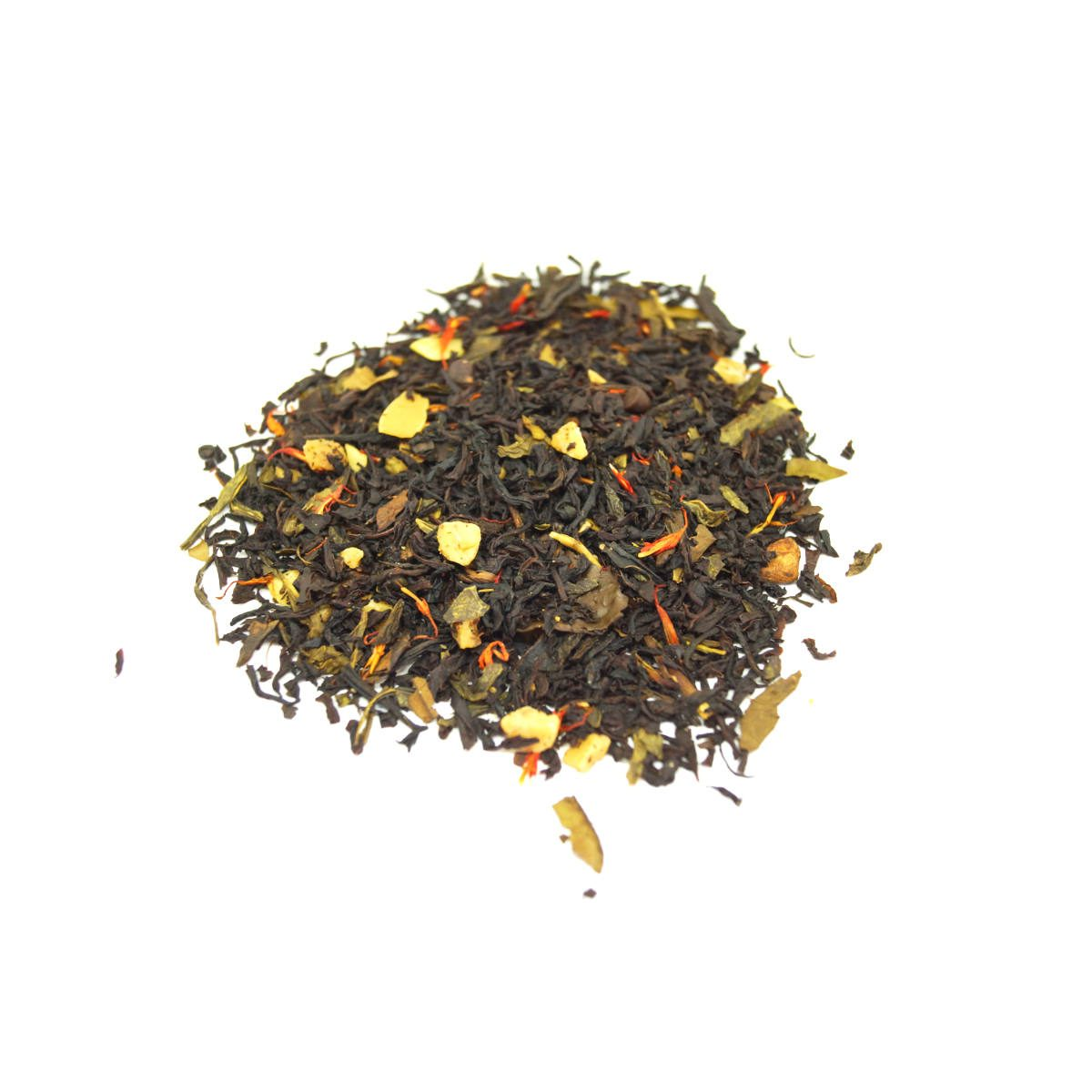 Grandma's Kitchen Black Tea has a combo of black teas and a green tea plus the added ingredients ofRoasted Almonds, Caramel and Cinnamon.