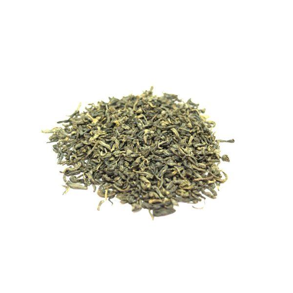 "en Mei Green Tea The Zhen Mei (Chun Mei) is named Precious Eyebrow Tea. Which it has a unique shape and arched look like ""eyebrows""."