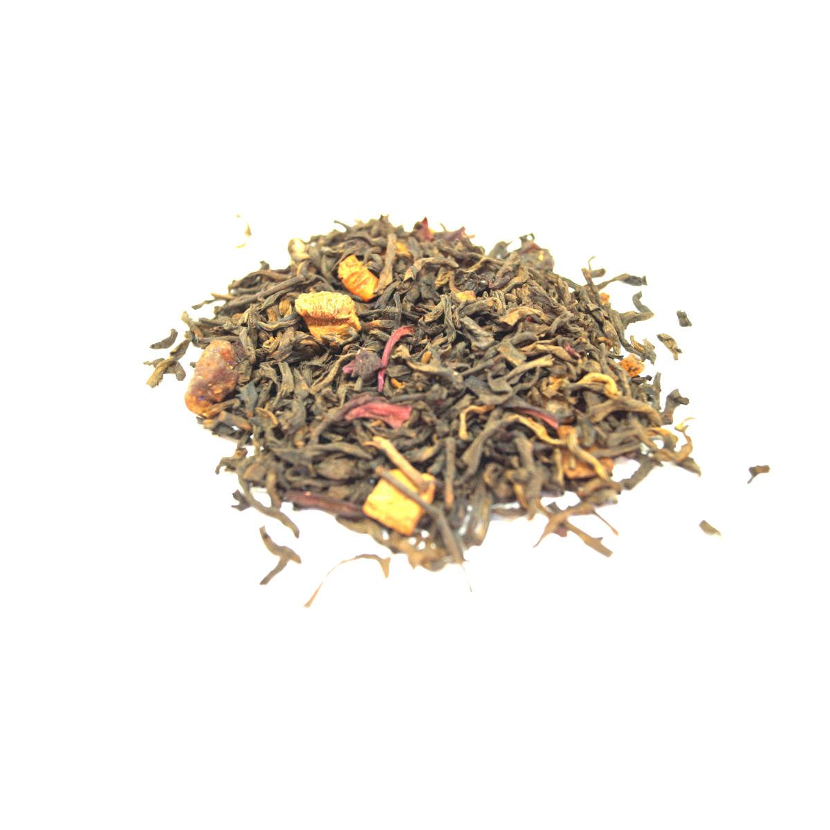 Breakfast Berry Pu-erh Tea Cultured and Fermented with Strawberry and Hazelnut and Low Caffeine