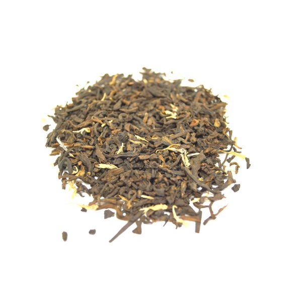 Peach-luscious Pu-erh Dark Tea Cultured and Fermented with Pieces and Peach and Blueberry