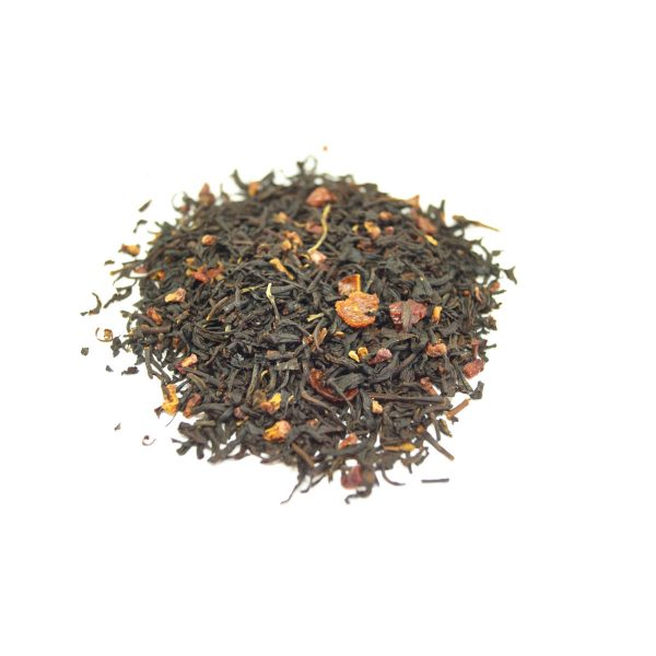 Razzy Raspberry Black Tea This combination of black teas paired with freeze dried bits of ruby red Raspberries.  Best Raspberry Taste.