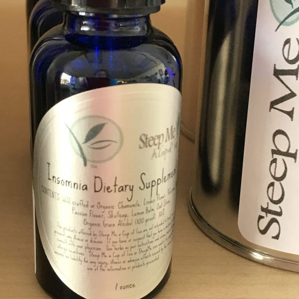 Insomnia Tincture he Steep Me Insomnia Helper is a very strong all natural sleep aid.  This tincture should be taken about 1/2 hour before bedtime.