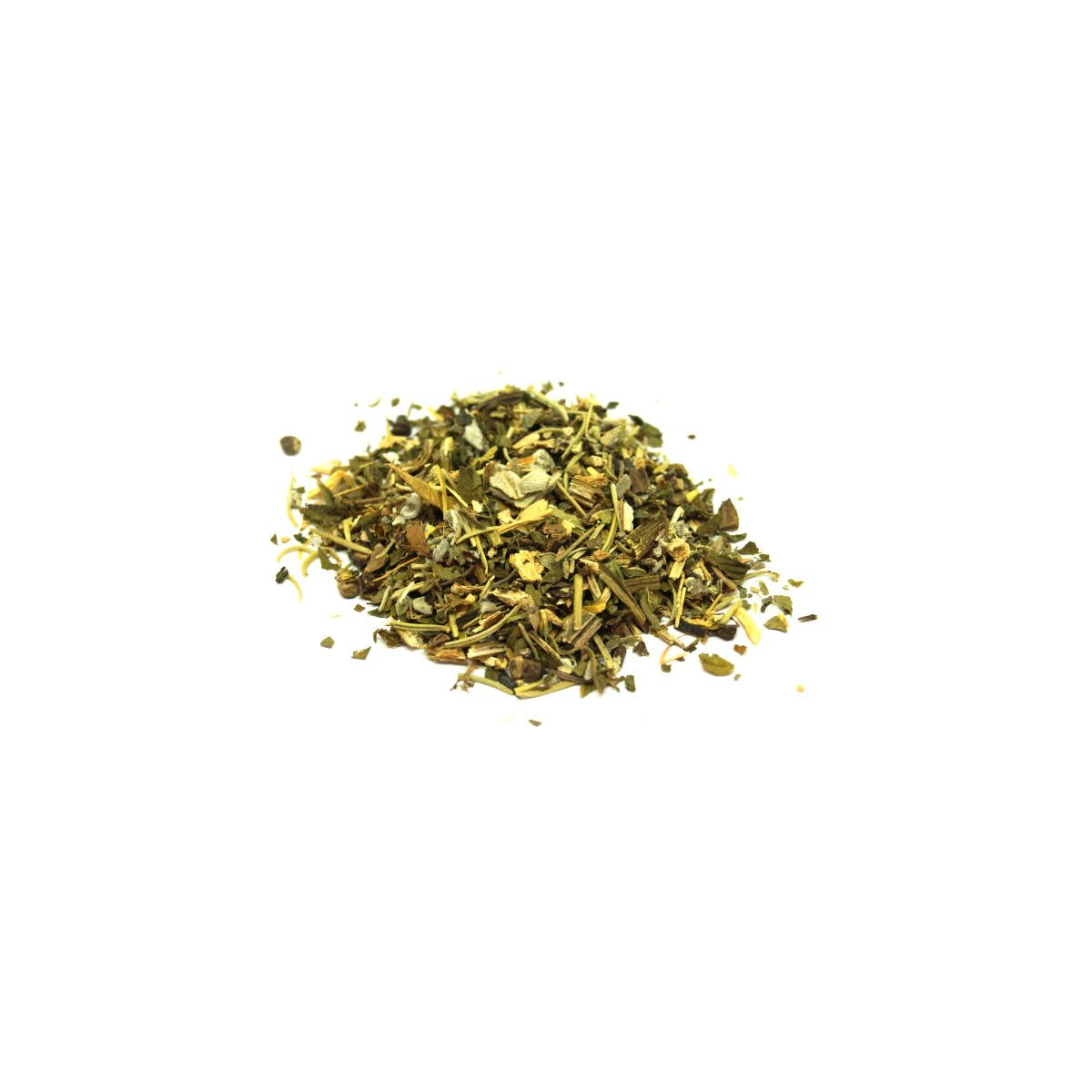 photo of loose herbs of peppermint, comfrey root and motherwort