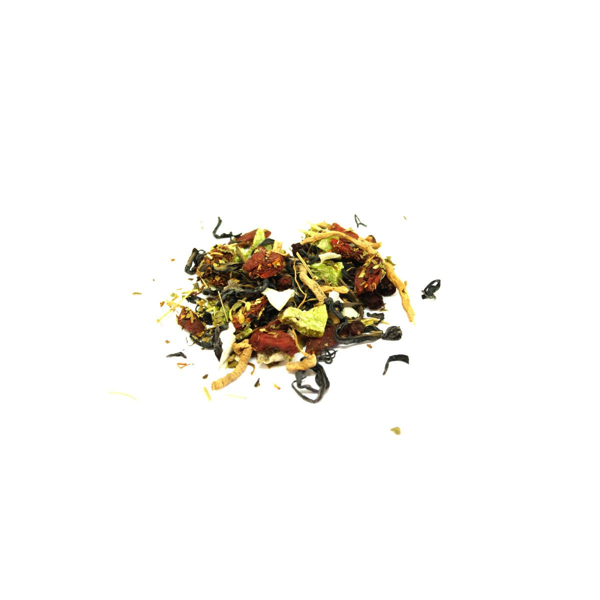 Cup of Ambition Tea We also added the fruit of Kiwi to give it a great flavorful taste combined with Coconut to round out the earthy-ness of the Polygala.