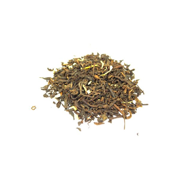 Coconut Pu-erh Dark Tea with shredded pieces of coconut