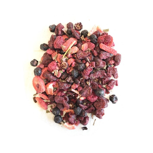 Berry Plush Herbal Tea Caffeine Free Fruit Pieces and Hibiscus