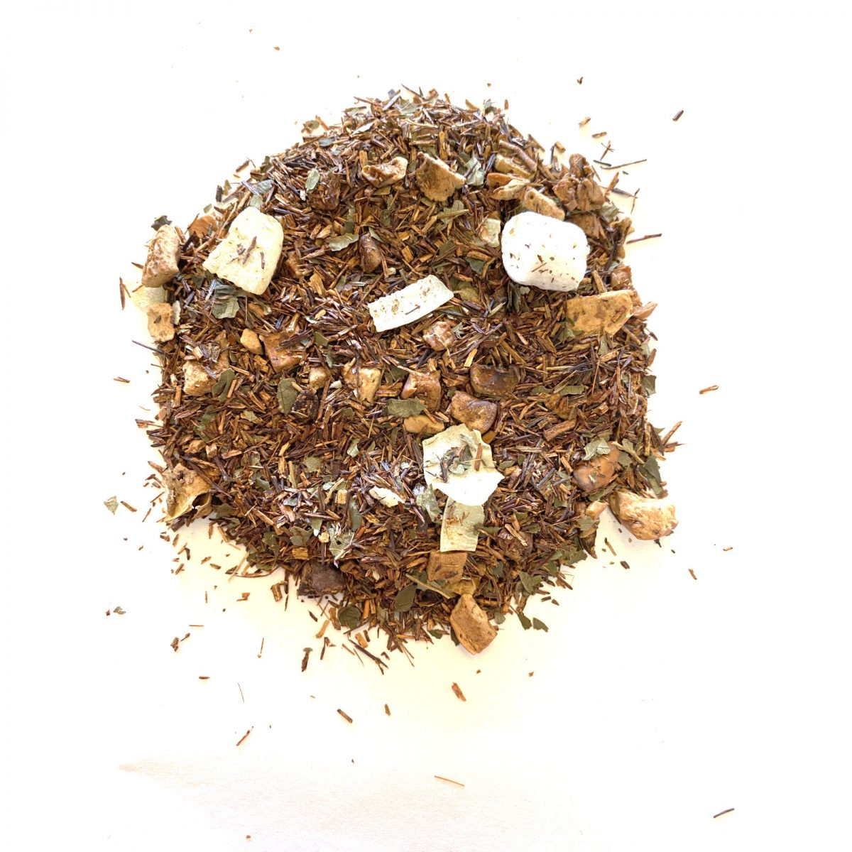 Berry Cotton Candy Rooibos Red Rooibos with the tartness of Black Currant berries and little bits of Marshmallows and Cotton Candy Essential Oil