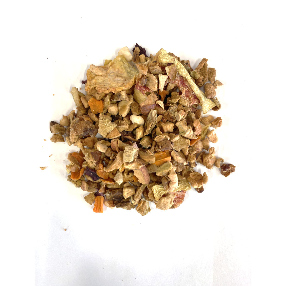 Watermelon Wow Tisane Tea has dried Watermelon Pieces, Apples and Green Melon.  Great kid friendly option with no caffeine!